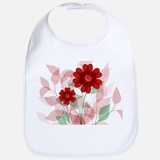 Modern Romantic red floral Design Bib