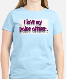 """COP BUFF SHOP"" Women's Pink T-Shirt"