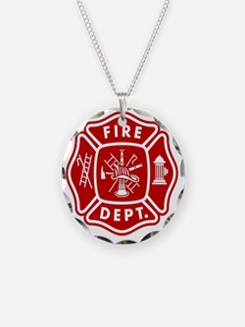 Fire Department Crest Necklace