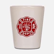 Fire Department Crest Shot Glass