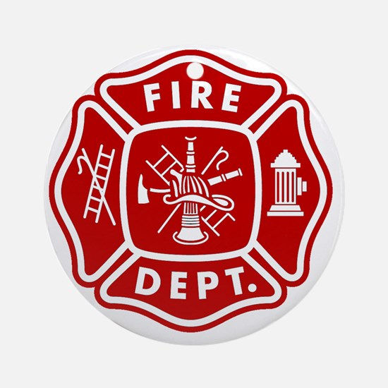 Fire Department Crest Round Ornament