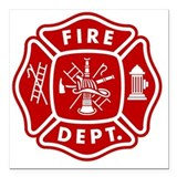 Firefighter Square Car Magnets