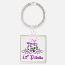 Real Women Love Pitbulls Square Keychain