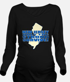 New Jersey Strong Long Sleeve Maternity T-Shirt