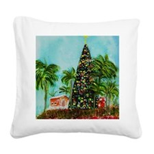 100 ft Christmas Tree Square Canvas Pillow
