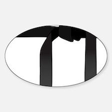 Black Belt Sticker (Oval)