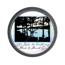 The Lake is Calling and I Must Go Wall Clock