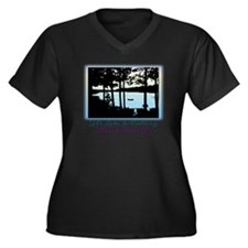 The Lake is  Women's Plus Size Dark V-Neck T-Shirt
