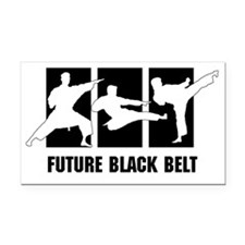 Future Black Belt Rectangle Car Magnet