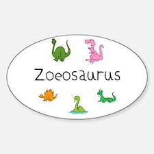 Zoeosaurus Oval Decal