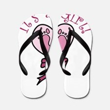 It's A Girl Flip Flops