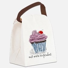 eat more cupcakes Canvas Lunch Bag