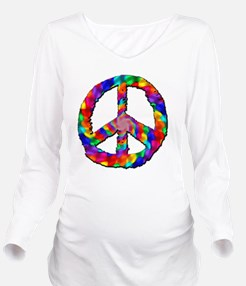 Psychedelic Peace Si Long Sleeve Maternity T-Shirt