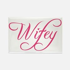 Wifey Bride Bachelorette Graphic Rectangle Magnet