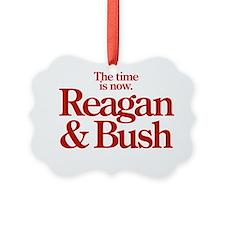 Reagan  Bush 1980 Campaign Logo Ornament