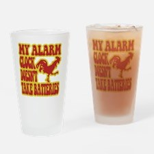 Rooster Alarm Clock Drinking Glass