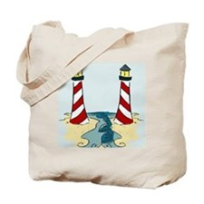 Jersey Lighthouse Tote Bag