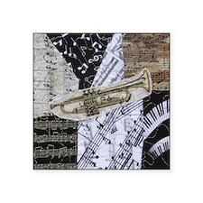 "0375-sq-trumpet Square Sticker 3"" x 3"""