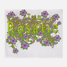 Team Rosalie Floral Lavender Flowers Throw Blanket