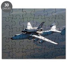 Buran space shuttle and carrier, 1989 Puzzle
