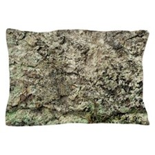 Camouflaged peppered moth Pillow Case