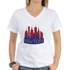NYC Skyline NewWave Patriot Shirt