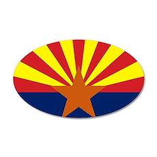 Arizona State Flag 35x21 Oval Wall Decal