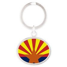 Arizona State Flag Oval Keychain