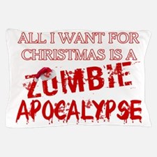 Christmas Zombie Apocalypse Pillow Case