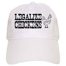 Legalize Chickens hat Baseball Cap