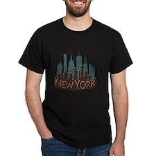 NYC Skyline NewWave Chocolate T-Shirt