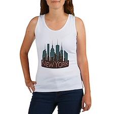NYC Skyline NewWave Chocolate Women's Tank Top