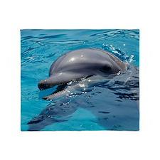 Bottlenose dolphin Throw Blanket