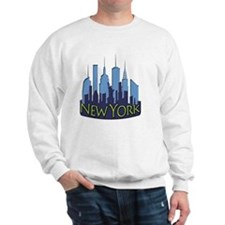 NYC Skyline NewWave Cool Sweatshirt