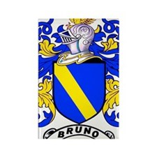 Bruno Family Crest Rectangle Magnet