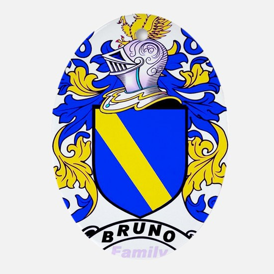 Bruno Family Crest Oval Ornament