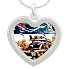 Vintage Woody Silver Heart Necklace