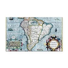 17th century map of South Ame Rectangle Car Magnet