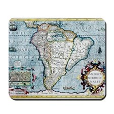 17th century map of South America Mousepad