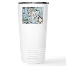 17th century map of Sou Travel Coffee Mug