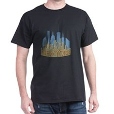 NYC Skyline NewWave Beachy T-Shirt