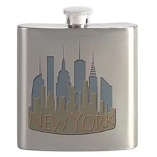 NYC Skyline NewWave Beachy Flask