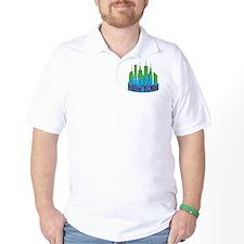 NYC Skyline NewWave Primary T-Shirt