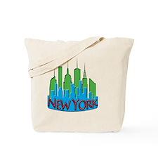 NYC Skyline NewWave Primary Tote Bag