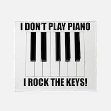 I Rock The Keys Throw Blanket