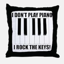 I Rock The Keys Throw Pillow