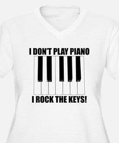 I Rock The Keys Plus Size T-Shirt