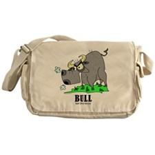 Cartoon Bull by Lorenzo Messenger Bag