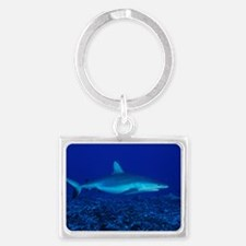 Bull shark Landscape Keychain