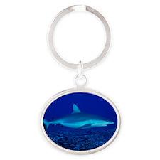 Bull shark Oval Keychain